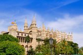 Almudaina and Cathedral of Palma de Mallorca in Majorca — Stock Photo