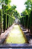Jardin des rei garden fontaine in Palma de Mallorca — Stock Photo