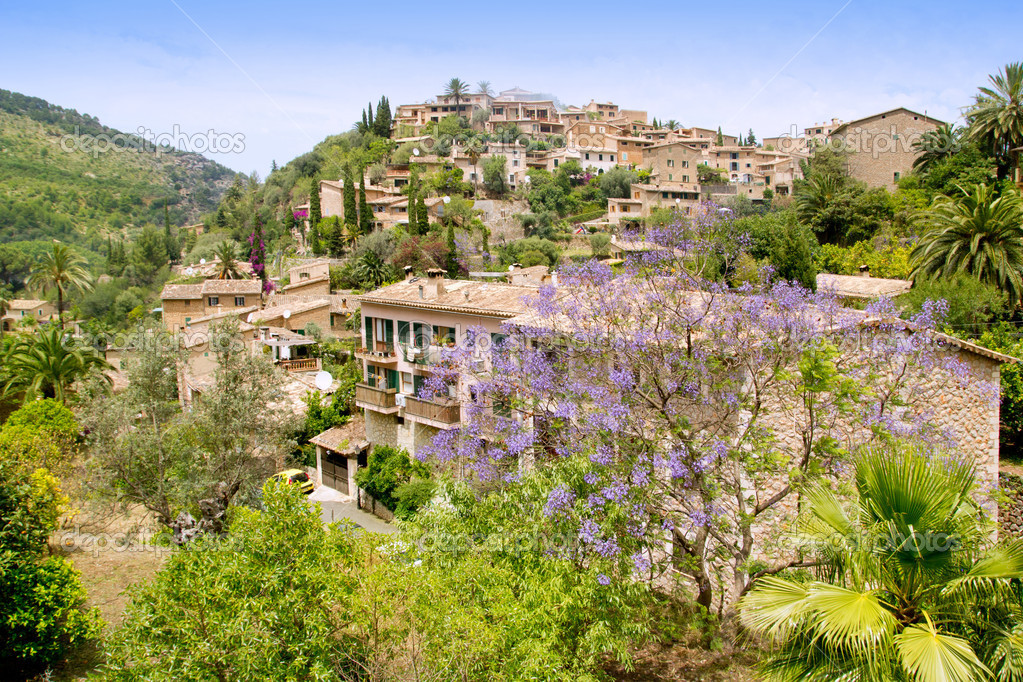 Deia typical stone village in Majorca Tramuntana mountain Balearic Spain — Stock Photo #6837456