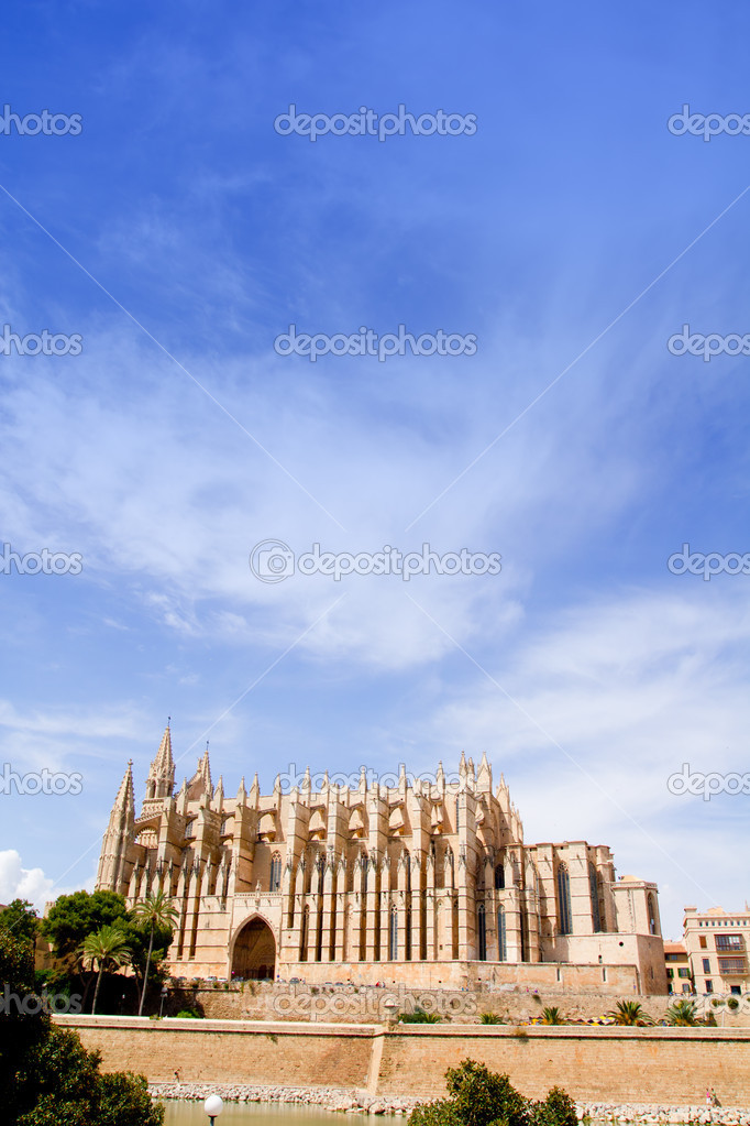 Cathedral of Majorca  La seu from Palma de Mallorca in Balearic Island Spain — Stock Photo #6838085