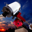 Astronomical observatory telescope sunset sky — Stock Photo