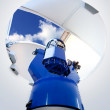 Astronomical observatory telescope indoor - Stock Photo