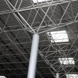 Industrial steel ceiling construction - Stock Photo