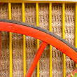 Traditional horse cart colorful detail - Stock Photo