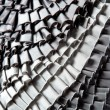 Gray ruffled skirt pleated texture — Stock Photo