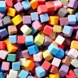Colorful square foam cubes texture — Stock Photo #6948949