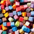 Colorful square foam cubes texture — Stock Photo #6949006