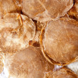 Mother of pearl brown round shells - Stock Photo
