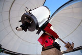 Astronomical observatory telescope indoor — Stock Photo