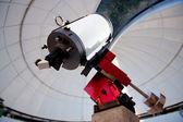 Astronomical observatory telescope indoor night — Stock Photo
