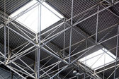 Industrial steel ceiling construction — Stock Photo