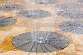 Water spring source from stainless steel — Stock Photo