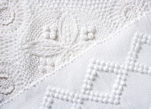 Cotton tricot pique fabric macro texture — Stock Photo