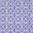 Andalusian style spanish blue ceramic tiles - Stock Photo