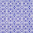 Andalusian style spanish blue ceramic tiles — Stock Photo