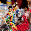 Stock Photo: Gipsy flamenco dancer womstatue crafts