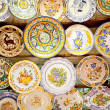 Ceramic traditional plates in Valencia — Stock Photo #6953376