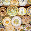 Stock Photo: Ceramic traditional plates in Valencia