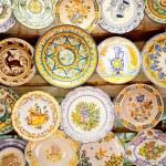 Ceramic traditional plates in Valencia — Stock Photo