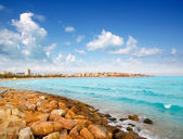 Salou beach in Tarragona Catalonia Spain — Stock Photo