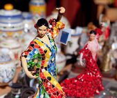 Gipsy flamenco dancer woman statue crafts — Stock Photo