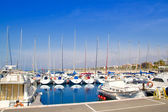 Blue marina port in Salou Tarragona — Stock Photo