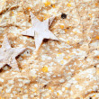 Christmas stars background on recycle paper — Stock Photo #6999630