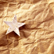 Christmas star background on recycle paper — Stock Photo