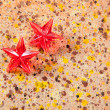 Christmas prism stars on recycled pape — Photo