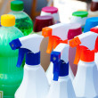 Chemical products for cleaning chores — Stock Photo