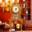 Stock Photo: Ancient vintage brass pendulum clock