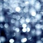 Abstract defocused blur blue christmas lights — Stock Photo #7004319