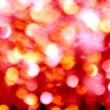 Abstract defocused blur red christmas lights — Stock Photo