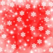 Christmas snowflake and stars illustration — Stock Photo