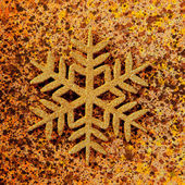 Christmas snowflake golden symbol — Stock Photo