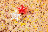 Kerst prisma sterren op gerecycleerd pape — Stockfoto