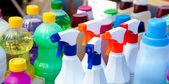 Kimyasal ürünler, temizlik işleri için — Stok fotoğraf