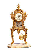 Horloge pendule ancienne laiton vintage — Photo