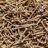 Iron zinc steel screw pattern — Stock Photo