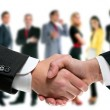Business handshake and company team — Foto Stock #7021708