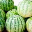Stock Photo: Freen seed less watermelon in market