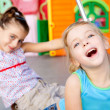 Children happy little sister girls playing — Stock Photo #7108551