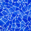 Blue trencadis broken tiles mosaic — Stock Photo #7111814