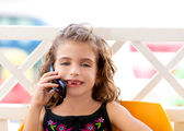 Children kid girl talking mobile phone — Stock Photo