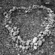 Heart shape like love symbol of stones — Foto Stock