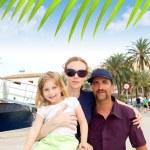 Family tourist in Ibiza town port — Stock Photo #7315620