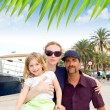 Family tourist in Ibiza town port — Stock fotografie #7315629