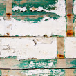 Grunge wood painter in white and green — 图库照片