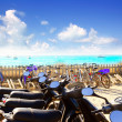 Bikes parking at Formentera beach — Stock Photo