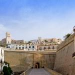Ibiza castle fort main door — Stock Photo